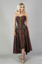 Warrior Chocolate Brown Steampunk Corset